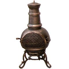 Cast Iron Chiminea BBQ - Toledo Design