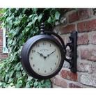 Cast Iron Clock Thermometer