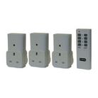 Set Of 3 Remote Control Sockets