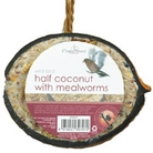 Chapelwood Bird Food - Coconut Half filled with Suet and Mealworms