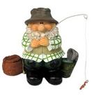 Garden Ornament - Woodland Wilf Goes Fishing