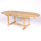 Greenfingers Teak Oval Extending Table
