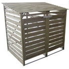 FSC Double Slatted Wheelie Bin Tidy