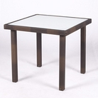 Ellister Roma 80cm Square Table - Brown