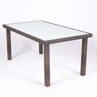 Ellister Roma 160cm Rectangular Rattan Dining Table - Brown