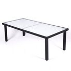 Ellister Roma 220cm Premier Rectangular Rattan Dining Table - Black