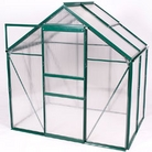 Greenfingers Green-Framed Aluminium Greenhouse - 6' x 4'