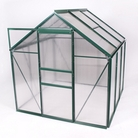 Greenfingers Green-Framed Aluminium Greenhouse - 6' x 6'