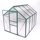 Greenfingers Green-Framed Aluminium Greenhouse - 8' x 6'