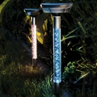 Gardman Stainless Steel Crystal Solar Light -Twin Pack