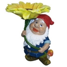 Gnome With Sunflower Ornament