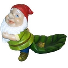 Gnome With Trailing Leaf Ornament