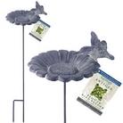 Gardman Antique Effect Bird Feeder Dish - Sunflower Design