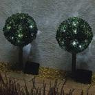 Pair of Solar Privet Sphere Lights