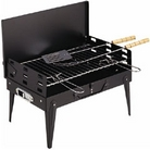 Folding Portable Charcoal BBQ with FREE 2 Piece Tool Kit