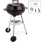 40cm Steel Kettle BBQ with FREE 3 Piece Tool Kit