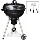 55cm Steel Kettle BBQ with FREE 3 Piece Tool Kit