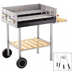 Heavy Duty Trolley BBQ with FREE 3 Piece Tool Kit