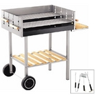 Heavy Duty Trolley BBQ with FREE 3 Piece Tool Kit