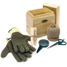 Wooden Box Planting Set - 7 Pieces