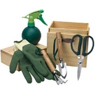 Wooden Box Gardeners Set - 6 Pieces