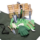 Gardeners Wooden Basket Trug Set - 12 Pieces
