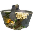Pail With Robin Planter