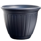 Verona Plant Pot Matt Black - 38cm