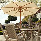 3m Ecru hardwood parasol