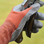 Orange nitrile gardening gloves showa floreo 370