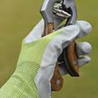 Green nitrile gardening gloves