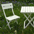 White heart bistro set