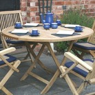 Winslow Round Folding Teak Table 110cm