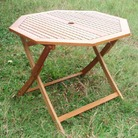 Greenfingers Portland Octagonal Hardwood Table