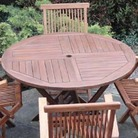 Greenfingers Oiled Round Teak Table