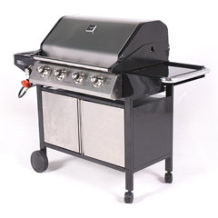 Outback Gas Barbeque Onyx 4 Burner with SideBurner
