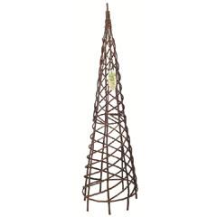 Gardman Natural Willow Spiral Garden Obelisk