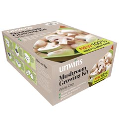 Unwins White Cap Mushroom Growing Kit