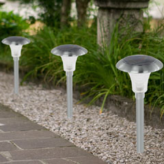 Stainless Steel Solar  Lights - Set of 4