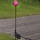 Pink Globe Solar Light