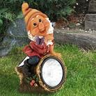 Gnome On Log Solar Light