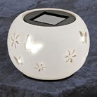 Cream Solar Light Globe
