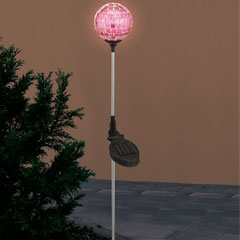 Pink Mosaic Globe Solar Light