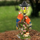 Tiffany Style Solar Light With Parrots
