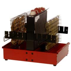Red Nordic BBQ Vertical Grill
