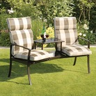 Padded Havana Duo with Check Cushions