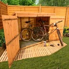 BillyOh 300 Pent Tongue and Groove Bike Store Mini Shed - 3'x6'
