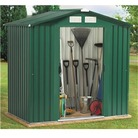 BillyOh 6' x 6' Anston Metal Shed with Wooden Floor