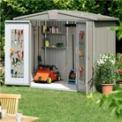 Biohort Europa 4 Metal Shed 2.44m x 2.28m Quartz Grey