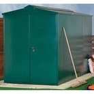 Asgard Gladiator Plus Metal Shed Green 7 x 11